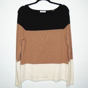 Equipment Color-block  Cashmere Crewneck Sweater